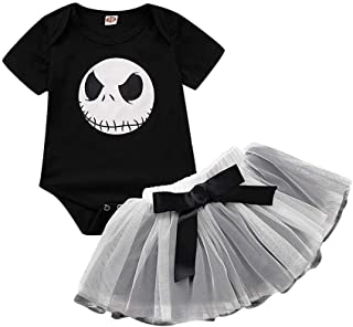 Halloween Costume 3-18Months,Newborn Baby Girl Nightmare Romper Tutu Skirt Outfits Set