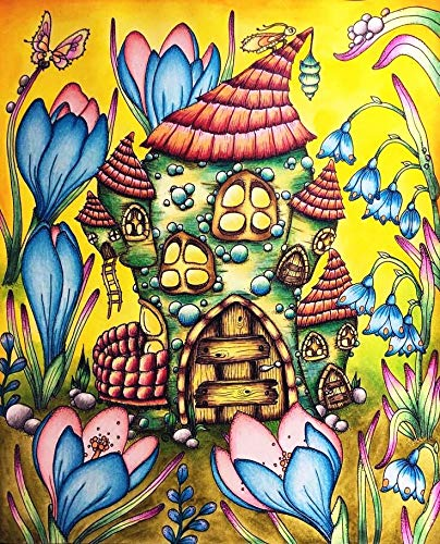 ATggqr Rompecabezas Puzzle 1000 Piezas 50x75cm Casa de Setas de Dibujos Animados Puzzle de Desafío Cerebral para niños Puzzle Regalos Juegos de Rompecabezas para la Damilia