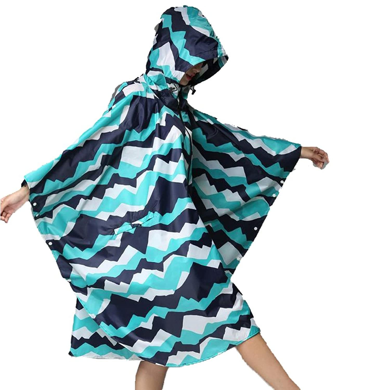 雨具 防水 女性用 通学 便利 スプライス 青 薄いセクション クローク レインコート ジッパー サイクリング ポンチョ 軽量 大きなサイズ クローク ウインドブレーカー レインコート