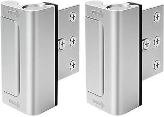 """Home Security Door Lock, Upgrade Easy Open Childproof Door Reinforcement Lock with 3"""" Stop Withstand 800 lbs for Inward Sw..."""