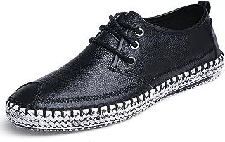 [スフォン] スリップオン メンズ レースアップスリッポン 大きいサイズ レザーシューズ ドライブシューズ カジュアル ビジネスシューズ ローカット革靴 紳士靴 ファッション スニーカー 手縫い ローファー