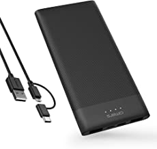Omars Battery Pack Power Bank 10000mAh USB C Battery Bank Slimline Portable Charger with Dual USB Output Compatible with iPhone Xs/XR/XS Max/X, iPad, Galaxy S9 / Note 9, Huawei Mate 20 Pro
