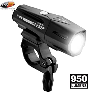 Cygolite Metro Pro– 950 Lumen Bike Light– 5 Night & 3 Daytime Modes– Compact & Durable– IP67 Waterproof– Secured Hard Mount– USB Rechargeable Headlight– for Road, Mountain, Commuter Bicycles
