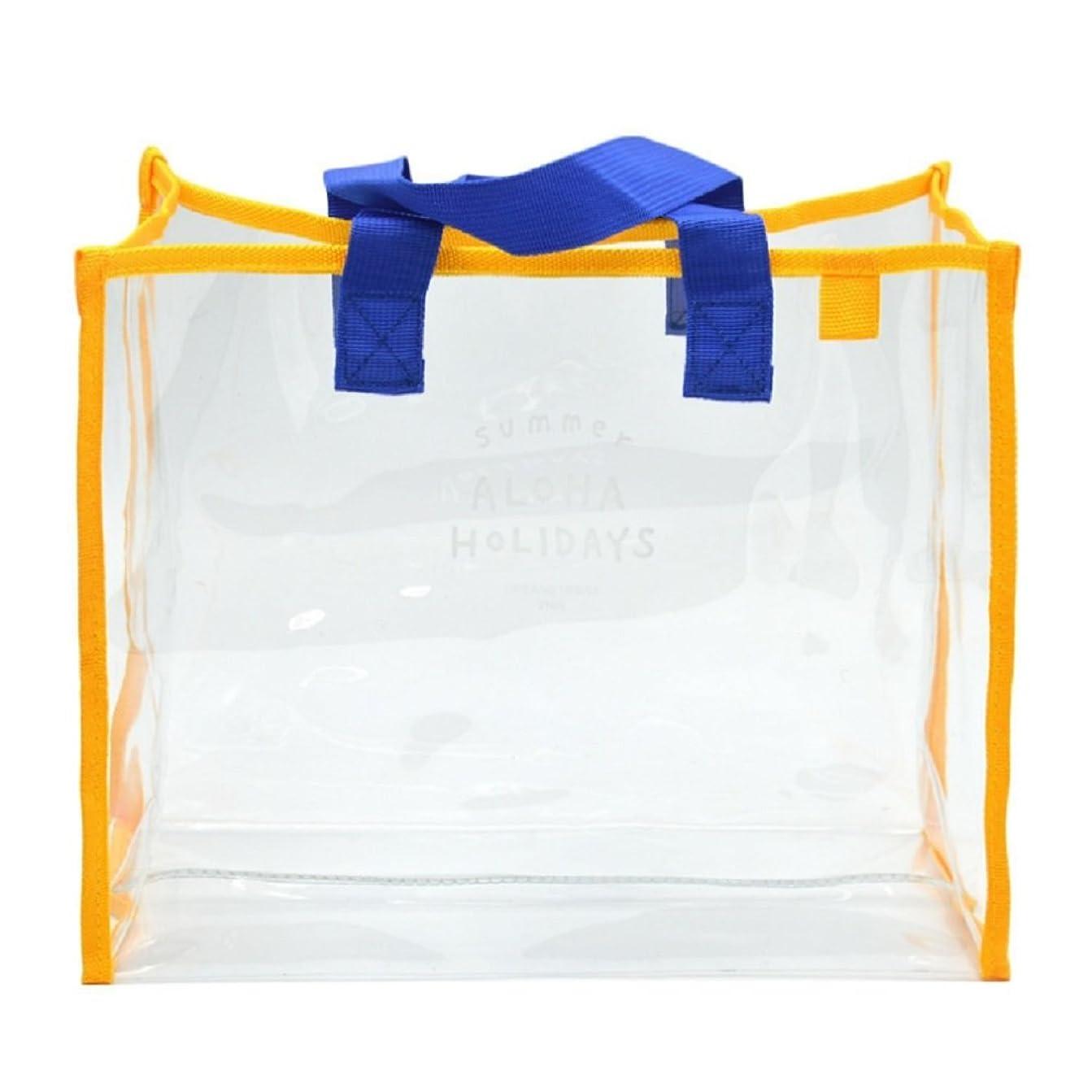 首尾一貫したインゲンフォルダ[セイヤインターナショナル] ビニールバッグ 透明 大容量 プールバッグ 水泳 アウトドア クリアバッグ
