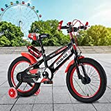 JJIIEE Bicicleta de Equilibrio con Ruedas de Entrenamiento para niños y niñas, Bicicleta de Estilo Libre con Asiento Ajustable, Ruedas de 18 Pulgadas, neumáticos Gruesos, Agarre Antideslizante,Rojo