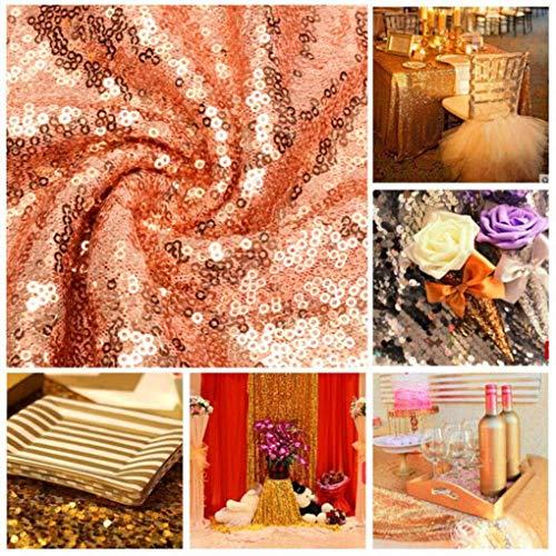 Yongse 30 * 180cm Rose gouden pailletten tafelloper bruiloft partij tafelkleed versieren