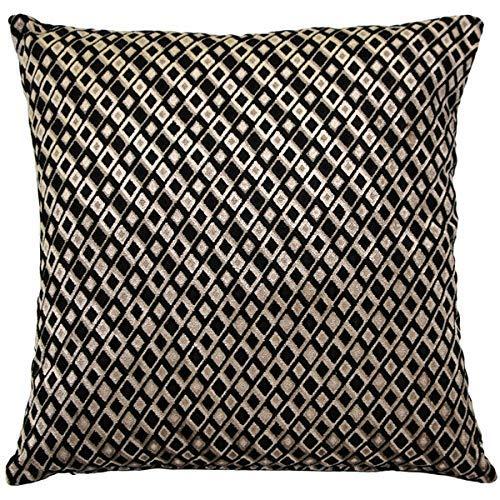 Jager Black Diamond Throw Pillow 18' X 18'(IN)