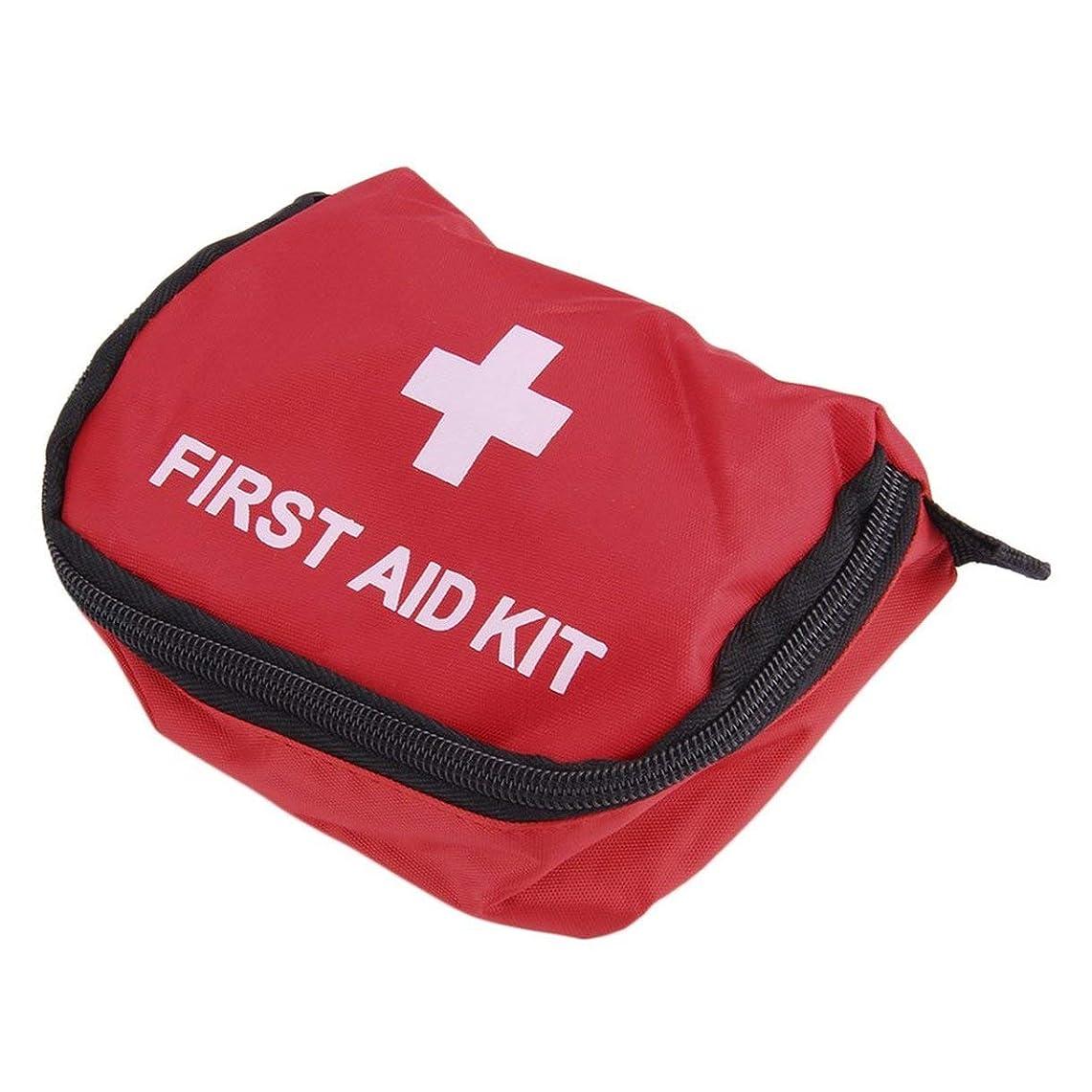 アナリストふくろうによると応急処置キット0.7Lレッドキャンプ緊急サバイバルバッグ包帯薬防水-赤