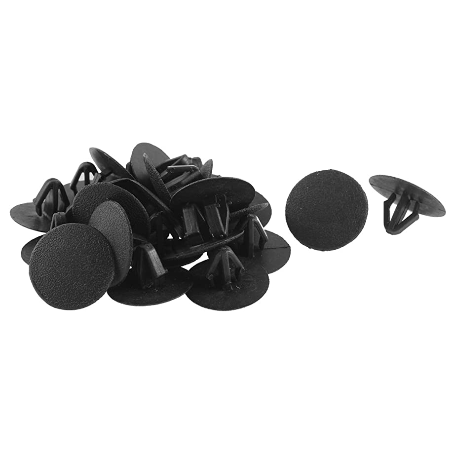 uxcell 25 Pcs Black Plastic Splash Guard Mat Clips