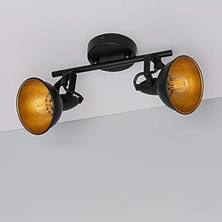 LEDKIA LIGHTING Lámpara de Techo Orientable Emer 2 Focos Negro Negro
