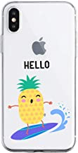 Fvntuey Case Compatible for iPhone 11 Shell Transparent Crystal Silicone Gel Soft TPU Ultra-Thin Shockproof Bumper Cute Pattern Protective Anti-Scratch Bumper Cover(pineapple)