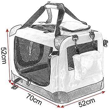 EUGAD 0120HT Cage de Transport en Oxford Sac de Transport Pliable pour Chien ou Chat,Violet 70x52x52cm