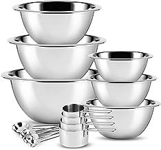 Stainless Steel Mixing Bowls - JoyTable Mixing Bowls Set of 14 - Large Stainless Mixing Bowls For Kitchen - Nesting Metal ...