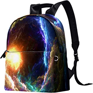 EGGDIOQ Warmly Lit Printed Fashion Leather Backpack Waterproof Durable School Bookbag Backpack Laptop Bag Daypack for Wome...