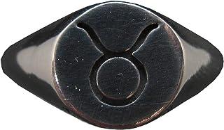 Anello da Uomo in Argento Massiccio Marchiato 925 Segno Zodiacale Toro R002147