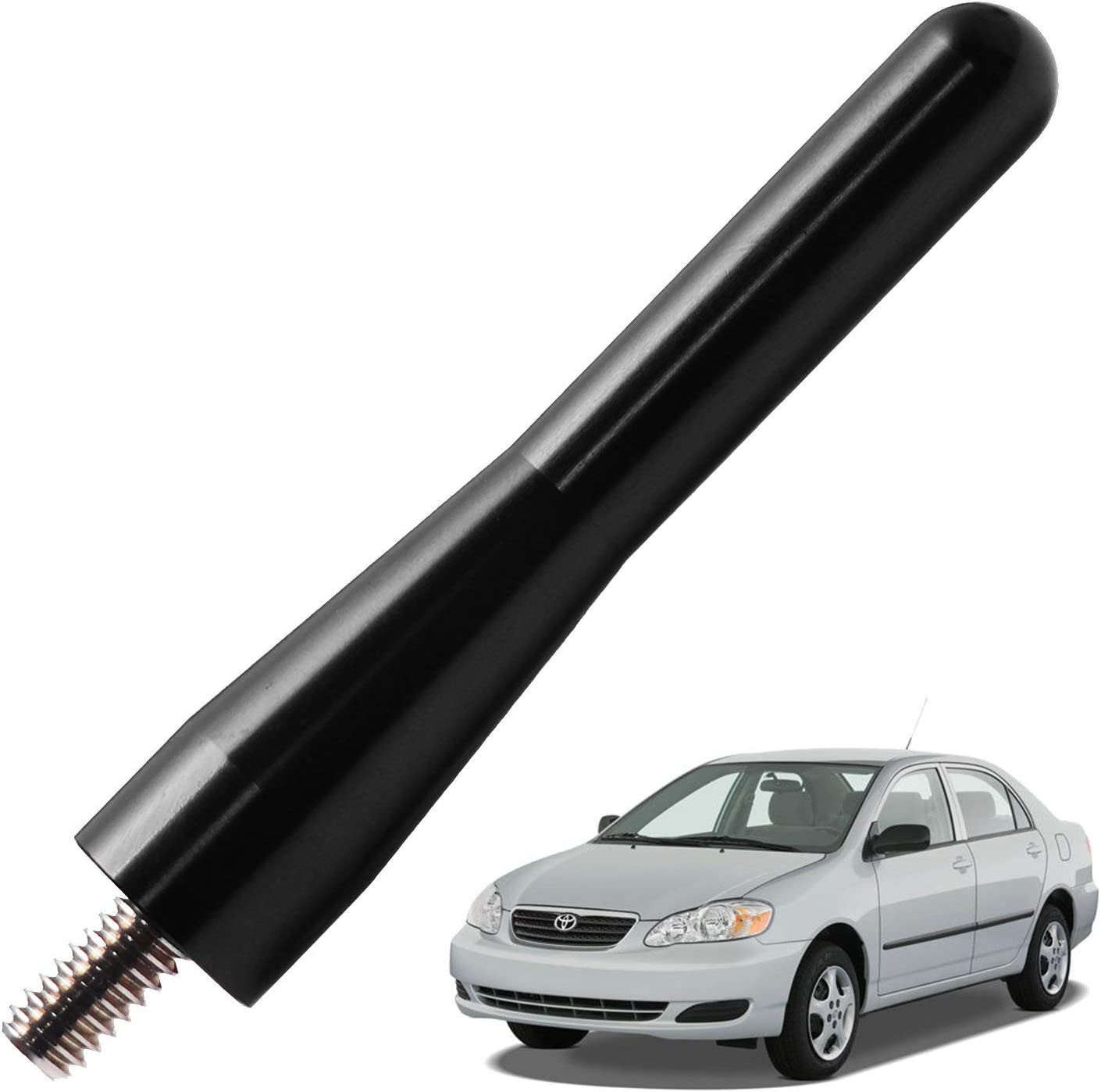 JAPower Replacement Antenna Compatible with Mini Cooper 2001-2018 3 inches-Black