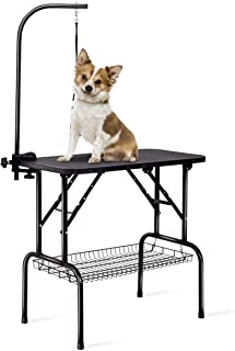 """Sponsored Ad - Giantex 32"""" Pet Grooming Table for Dogs Cats, Foldable Dog Grooming Station, Height Adjustable Arm Clamp, H..."""