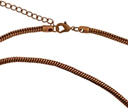 DragonWeave Antique Copper Plated 3.3mm Calypso Snake Chain Necklace with Extra Durable Protective Finish - 18-20 inches