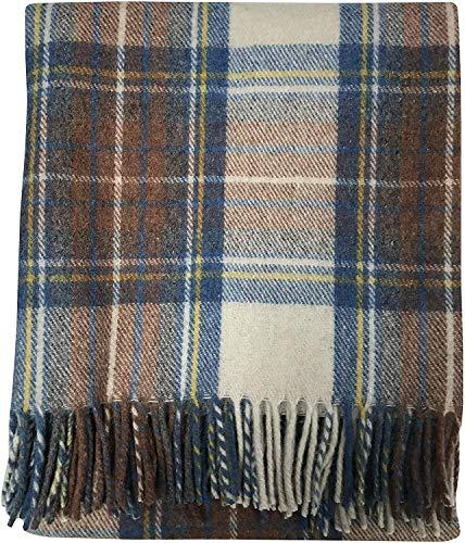 Couverture de Genou en Laine recycl/ée Style Tartan /écossais Buchanan Antique The Tartan Blanket Co