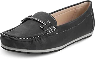 Tresmode Women Faux Leather Casual Slip-on Loafers/Moccasins With Horse-bit