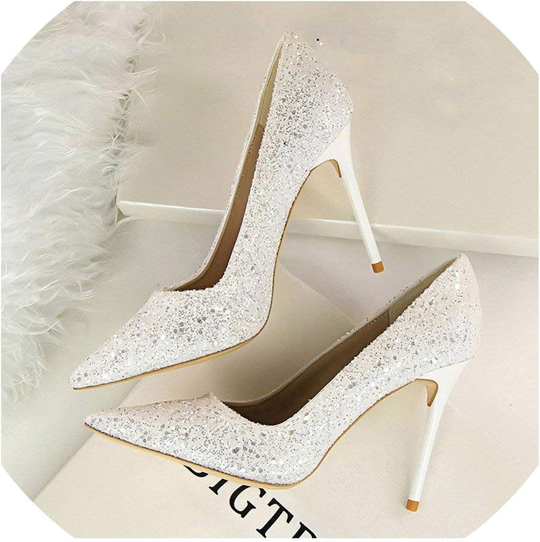High Heels Women Pumps High Heels Wedding Party Bling Women Heels Glitter Female Pumps shoes