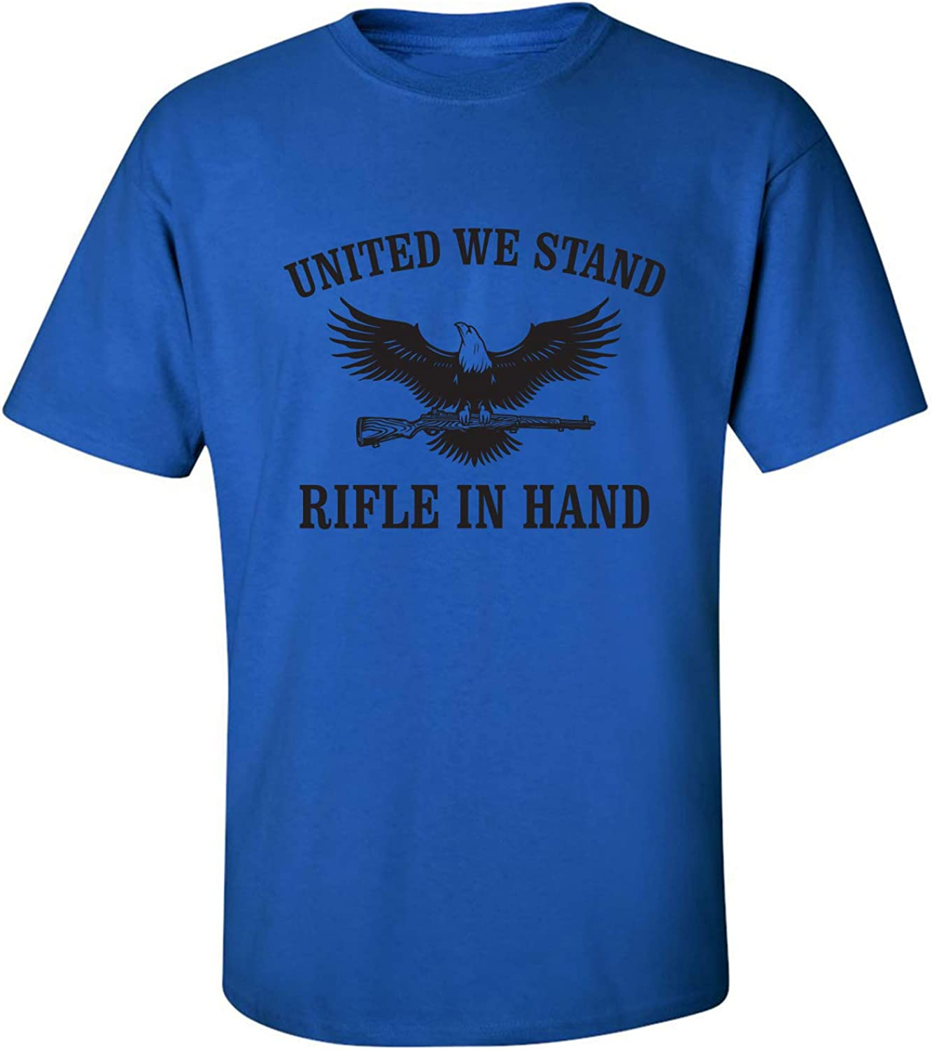 United We Stand Rifle in Hand Adult Short Sleeve T-Shirt
