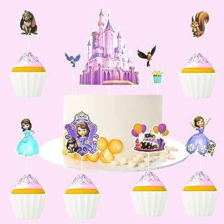 Kaoenla 10-Piece Sophia Cake Topper-Cupcake Decoration Children's Birthday/Children's Party Decoration