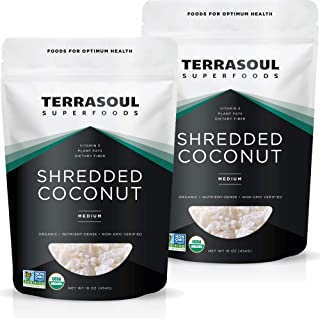 Terrasoul Superfoods Organic Coconut Flakes, 2 Lbs (2 Pack) - Medium Flakes | Perfect for Baking | Making Coconut Milk