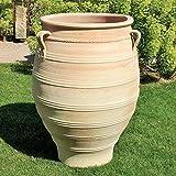 Kreta ceramica | Grande Anfora in terracotta XXL resistente al gelo | 130 cm | Vaso per piante di alta qualità per giardino, terrazza, esterni, timo.