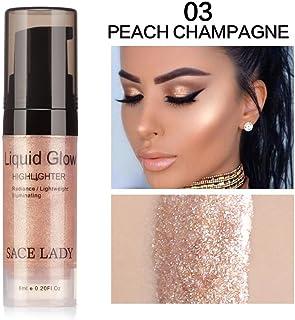 Niome 6ml Face Liquid Highlighter Cream Illuminator Shimmer Glow Kit Facial Brighten Shine Moisture Makeup Cosmetic 3#