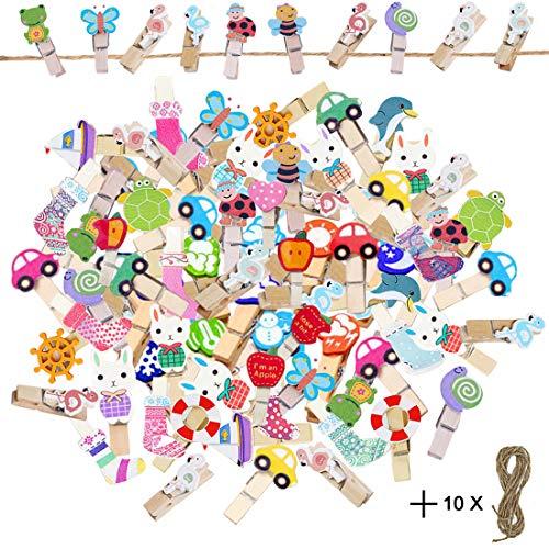 ❤❤ Juego de 10 juegos de colores: hay botas de Navidad, bonitos coches, bonitos pentagramas en punto, frutas dulces y portafotos adorables insectos, etc. Con este bonito juego de pinzas de ropa de color, puedes crear fotos creativas y bonitas para tu...