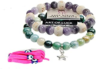 Zorbitz Inc – Bundle of 2 Karma Beads Bracelets Believed to Deliver Unexpected Miracles and Good Health. Included 36