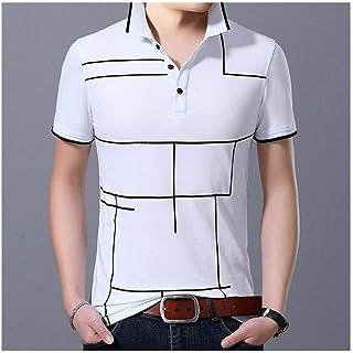 BIDLS Polo Shirt Men's 2020 New Fashion Plaid Top Grade Summer Short Sleeve Slim Fit Cotton Boys Polo shirt Casual Men's C...