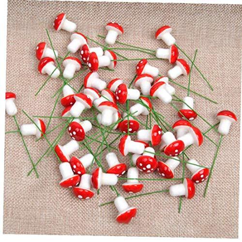 linjunddd Mini-Pilz-Stock-Fee-Garten-Dekor-Micro Landschaft Bonsai Pilz Stakes Miniatur-Garten Ornamente 20PcsHome und Garten
