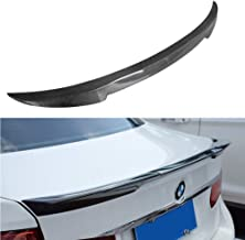 SCITOO Carbon Fiber Black Rear Trunk Spoiler Wing Exterior Accessories Styling Kits Replacement for BMW 328i xDrive 4-Door...