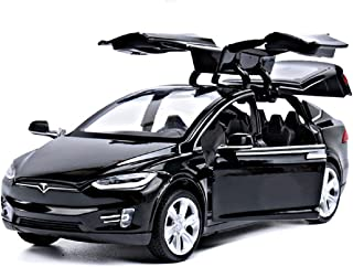 Toy Cars Pull Back Car Alloy Vehicles with Lights and Music Toys for Kids Gift Model X 1:32 Scale (Black)