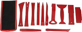 Garneck Ferramentas de remoção de painel de porta com 12 peças para instalação e remoção de painel central de painel vermelho