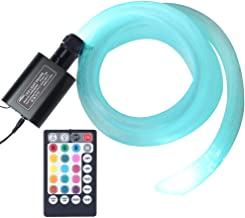 Car 12W RGBW Remote Music Mode LED Fiber Optic Star Ceiling Kit, Mixed 450 Strands 9.8ft Long, 0.03in+0.04in+0.06in