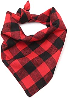 Lumberjack Plaid Pet Dog Bandanas Collar