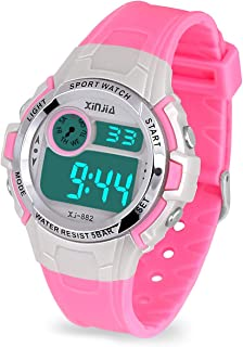 Kids Digital Watch,Boys Girls Sports Outdoor LED 50M(5ATM) Waterproof Multi Functional Wrist Watches with Alarm for Children