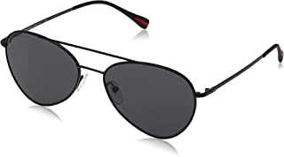 Prada Unisex Aviator Sunglasses - Grey, PS50SS7AX5S057
