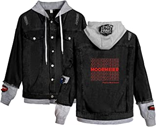 Landove Payton Moormeier Hoodie Unisex Demin Jeans Jacket A15194NZ01