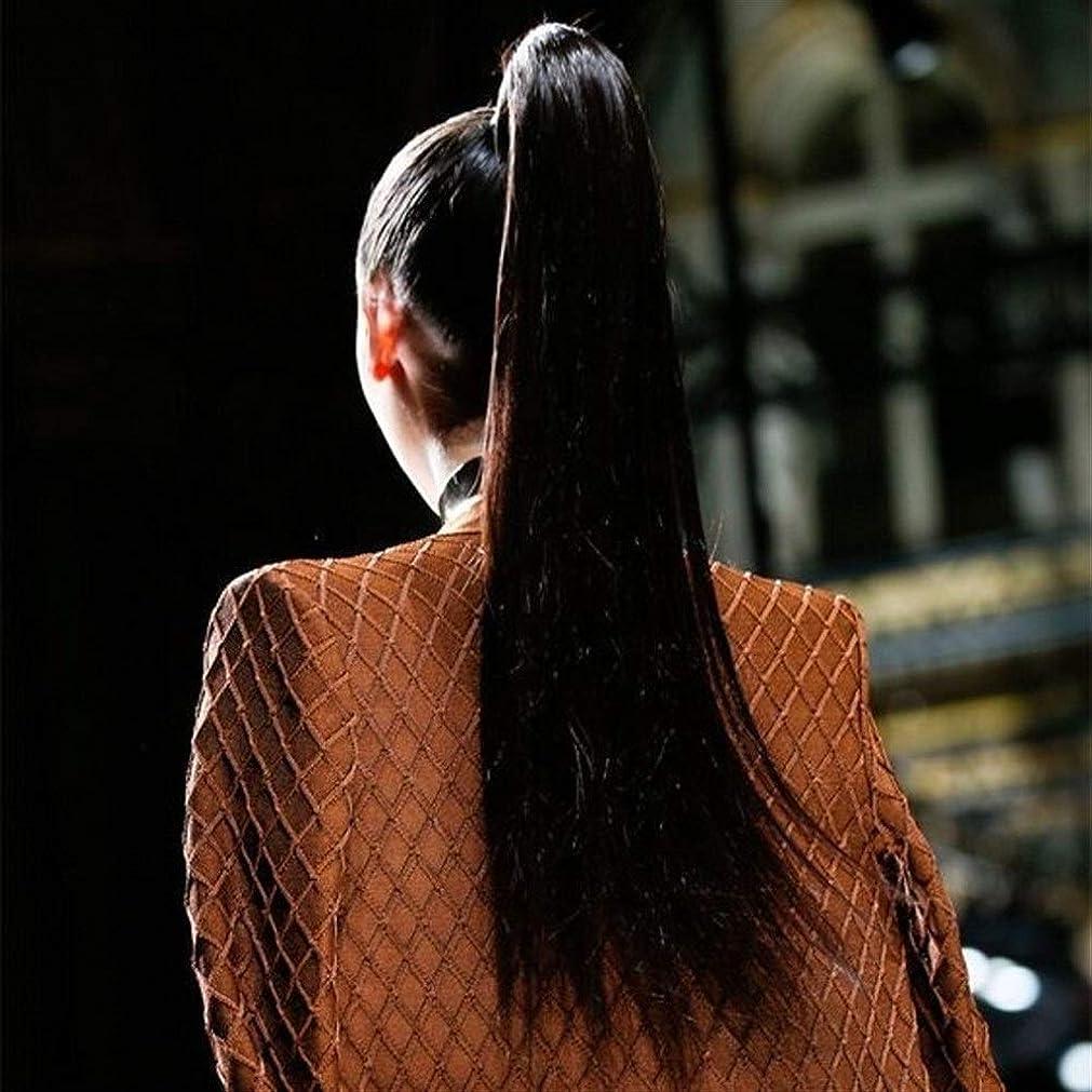 宅配便出血繊維かつら マッソン女性ストラップポケット本物のかつらの長いストレートの髪は本物の色素は高温になる場合がありかつら、スギナストラップ