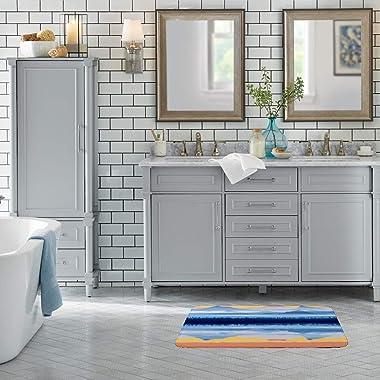 CHEHONG Alfombra de puerta para interior y exterior, mullida, no destiñe, para baño, sala de estar, cocina, alfombra de forro