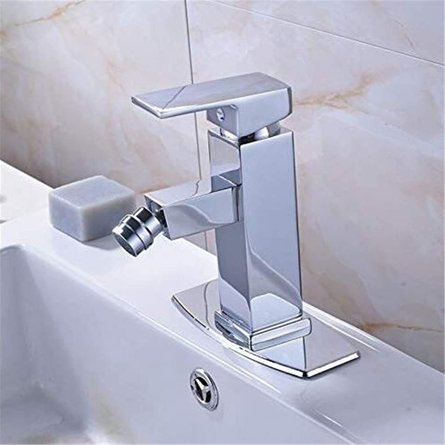 Faucet Basin Faucet Kitchen Faucetbathroom Sink Tapdeck Mounted Bathroom Woman Bidet Faucet Single Lever Hot and Cold redate Lavatory Sink Mixer Tap Bright Chrome