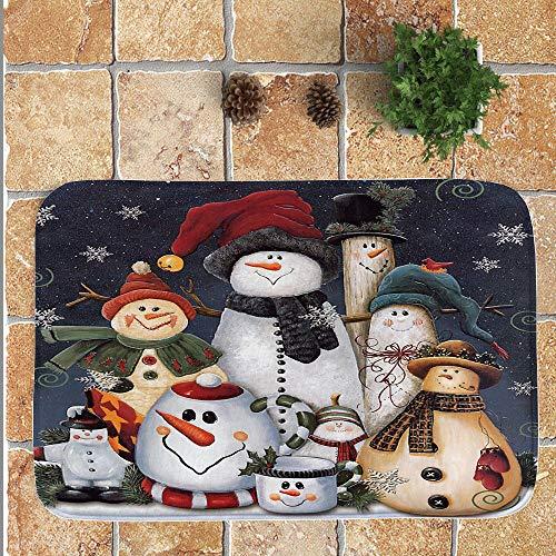 OHQ Alfombra Antideslizante Feliz Navidad Bienvenido Felpudos Interior Casa Pegatina De La Pared Etiqueta Cubierta...