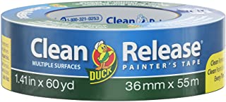 Duck Brand 240194 Clean Release Painter's Tape, 1.41 in. x 60 yd., Blue, Single Roll