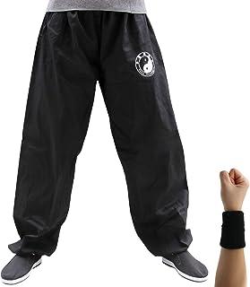 Dee Plus Tai Chi spodnie treningowe | damskie i męskie Kung Fu mundurki do sportów walki | Qigong Wing Chun Shaolin szerok...