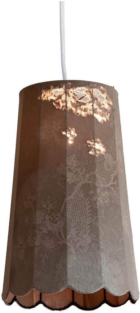 Karman life, lampada a sospensione  Ø36 cm,con paralume in denim vintage SE650V