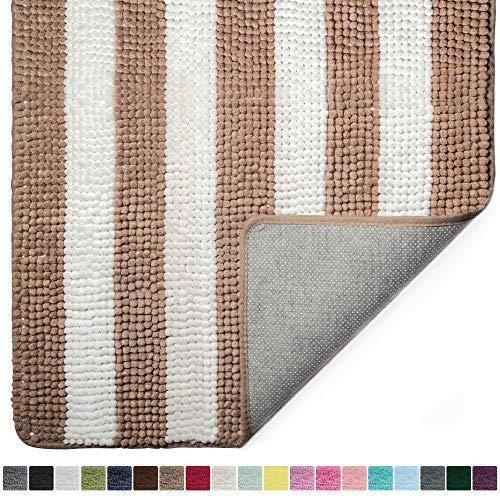 Gorilla Grip Original Luxury Chenille Bathroom Rug Mat, 44x26, Extra Soft and Absorbent Shaggy Rugs,...